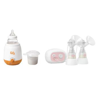 Bộ 1 máy hút sữa mẹ điện tử Unimom Forte 880013 và 1 máy hâm nóng sữa và thức ăn 3 chức năng không BPA Fatz 3003SL