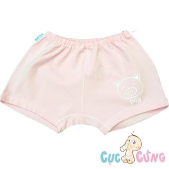 Quần ngắn cho bé sơ sinh YOU màu in hình số 3 - màu hồng nhạt