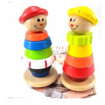 Đồ chơi chú hề gỗ Đồ chơi gỗ A+ DG1-027 (Đỏ)