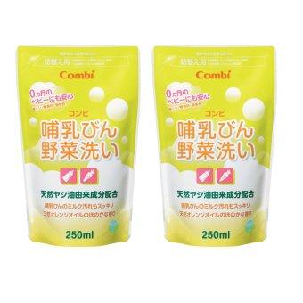 Bộ 2 túi nước rửa bình sữa Combi x 250ml