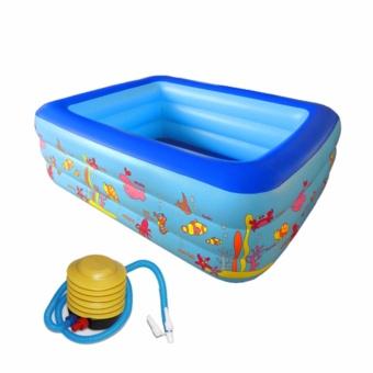 Bon tam tre em - Bể bơi phao Z130 ĐẸP, DÀY, CỰC BỀN- dành cho cả người lớn - TẶNG BƠM CHUYÊN DỤNG.