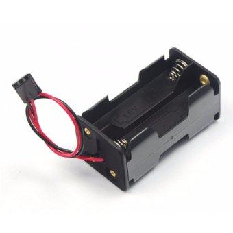 Khay lắp 4 pin tiểu AA kèm dây điện và jack cắm (Đen)