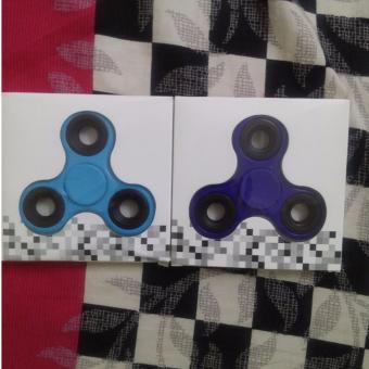 COMBO Đồ chơi giải toả áp lực 3 Cạnh Hand Spinner(xanh dương + xanh lam đậm)