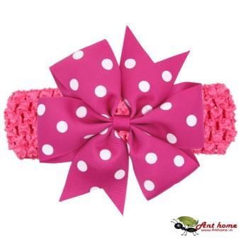 Băng đô handmade phong cách châu Âu AHBĐ5 mầu tím hồng phụ kiện tóc cho bé thêm yêu