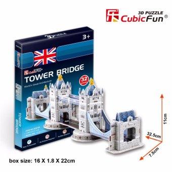 Mô hình sa bàn Cubic Fun 3D bằng giấy cứng: Cầu Tháp Luân Đôn Tower Bridge