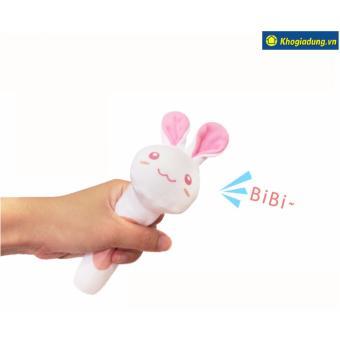 Thú bông có tiếng kêu cho bé hình thỏ trắng