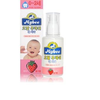 Nước tưa lưỡi Mybee vị dâu cho bé từ 0~ 2 tuổi_80g (Korea)