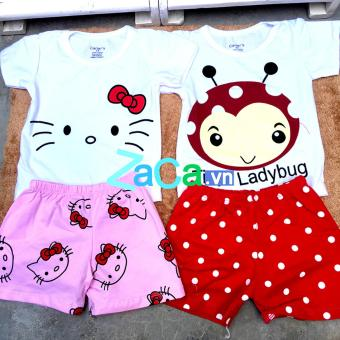 2 Bộ quần áo cho trẻ 100 % cotton Size 5 (13-15kg) hàng Việt Nam (ngẫu nhiên nếu hết mẫu)