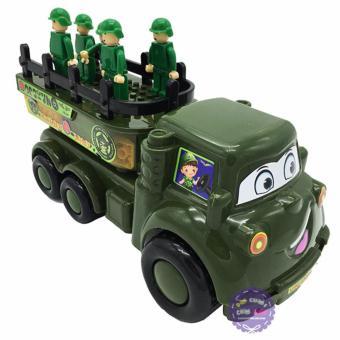Đồ chơi xe tải chở lính chứa xếp hình Cholo Blóc