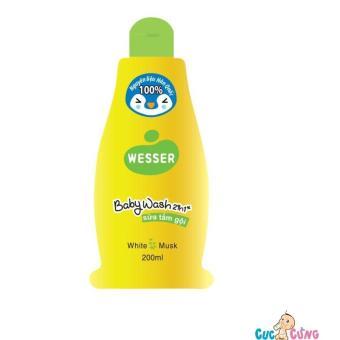 Sữa tắm gội Wesser 200ml (Xanh lá)
