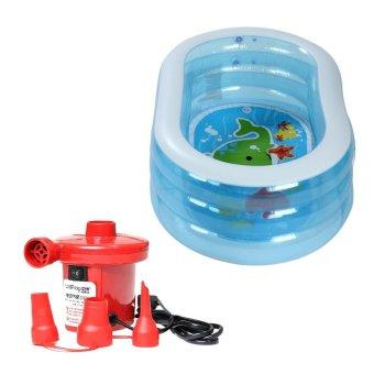 Bộ bể bơi phao đại dương Intex 57482 (Xanh) và Bơm điện bơm bể bơi 210W