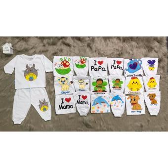 Combo 2 Bộ áo tay dài quần dài bo cho bé (3-36 tháng)