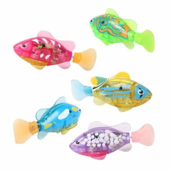 Bộ 2 con cá cảnh chạy pin Robo Fish có đèn Led