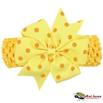 Băng đô handmade phong cách châu Âu AHBĐ5 mầu vàng phụ kiện tóc cho bé thêm yêu