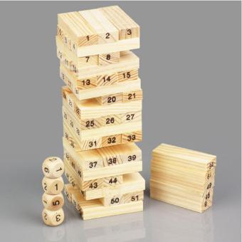 Bộ đồ chơi rút gỗ Wiss Toy 54 thanh(Nâu)