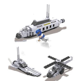 Bộ lắp ráp tàu quân sự 3 in 1 (3 hình dạng khác nhau)