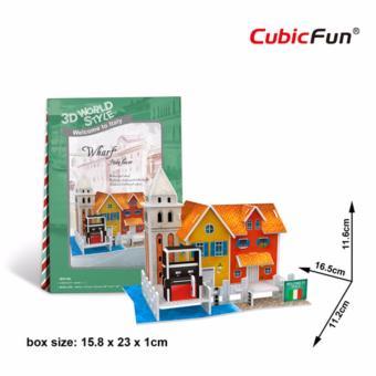 Mô hình sa bàn Cubic Fun 3D bằng giấy cứng: Nhà WHARF của nước Ý
