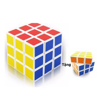 Đồ chơi phát triển kỹ năng Rubik 3x3x3 tặng kèm 1 bộ rubik 3x3x3 nhỏ
