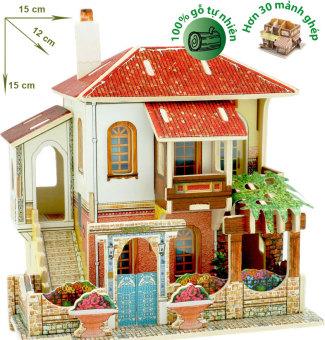 Mô hình nhà gỗ DIY - 3D Jigsaw Puzzle Wooden Toys HPMB6141
