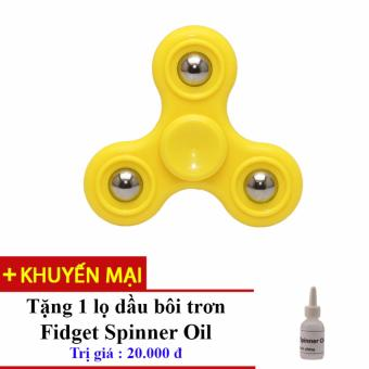 Đồ Chơi Con Quay Giúp Xả Stress Fidget Spinner (Vàng) + Tặng Dầu Bôi Trơn Fidget Spinner Oil