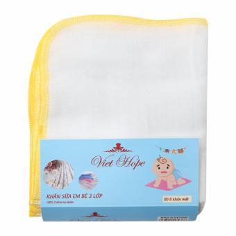 Khăn sữa trẻ em 3 lớp 24x27cm bộ 8 KS -23