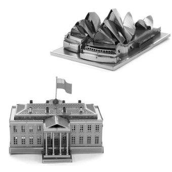 Bộ 2 xếp hình 3D Nhà hát Sydney và Nhà Quốc Hội