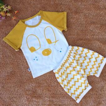 Bộ quần áo trẻ em in hình dễ thương BTE011 (Màu nâu)
