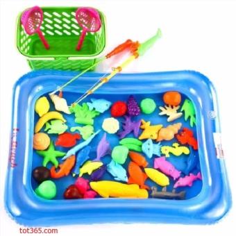 Bể phao câu cá đồ chơi cho bé kèm bơm tay 2 cần thông minh ANHDUY STORE