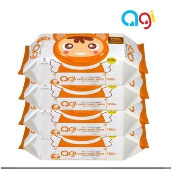 Bộ 4 gói khăn ướt Agi 100 tờ có hương