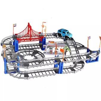 Bộ đồ chơi thông minh lắp ráp đường ray cho ô tô chạy, phát triển tư duy trẻ
