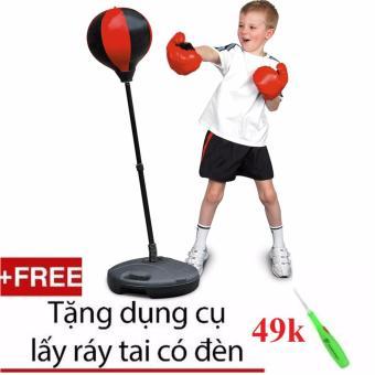 Bộ đồ chơi phát triển vận động, phản xạ cho bé Boxing set + tặng lấy ráy tai có đèn