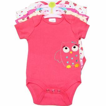 Bộ 5 áo liền quần bé gái từ 3 đến 12 tháng Baby Gear (Màu sắc ngẫu nhiên)
