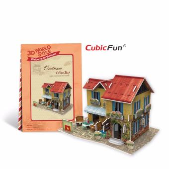 Mô hình sa bàn Cubic Fun 3D bằng giấy cứng: Quán cafe của người Việt Nam