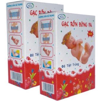 Bộ 10 hộp Gạc băng rốn an toàn cho trẻ sơ sinh Đông Fa 3 con nai