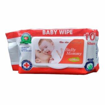 Bộ 05 gói khăn ướt 100 tờ BABY MOMMY thơm nhẹ tự nhiên.