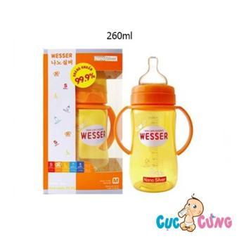 Bình sữa Wesser cổ rộng 260ml (Vàng)