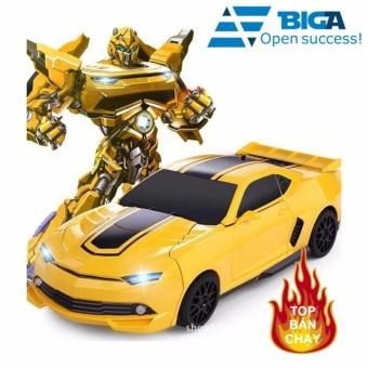 Đồ Chơi Siêu Xe Biến Hình Thành Robot US04124 (Vàng)