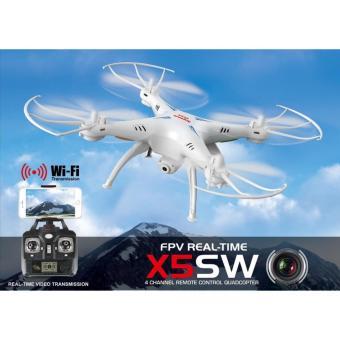 Máy bay Camera Wifi loại lớn Quadcopter Drone Flycam SYMA X5SW FPV 2.4G 4 kênh Wifi truyền hình trực tiếp