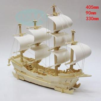 Bộ xếp hình 3D thuyền buồm thương mại