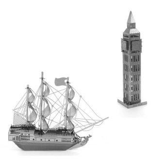 Bộ 2 Xếp hình 3D BIG BEN và Tàu