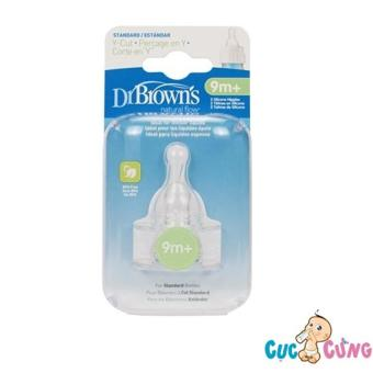 Ty bình sữa Dr Brown cổ thường size Y - 2 cái / vỹ