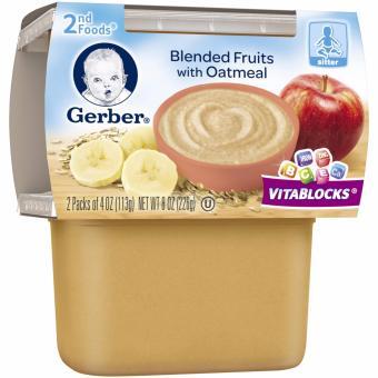 Thức ăn nghiền với bột Gerber 2nd food 226gr