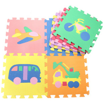 Baby Colorful Cartoon EVA Quiz Games Jigsaw Foam Crawling Cushion Traffic - Intl - intl