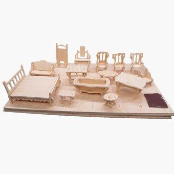 Bảng ghép gỗ nội thất 3D cho bé yêu