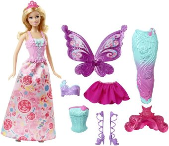 Búp bê Barbie The Fairytale Dress Up 3 in 1 Fashion
