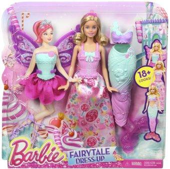 Búp bê Barbie The Fairytale Dress Up 3 in 1 Fashion