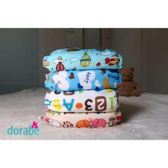 Bộ 4 tã vải Dorabe 2 ban ngày, 2 ban đêm size M cho trẻ 03kg - 16kg