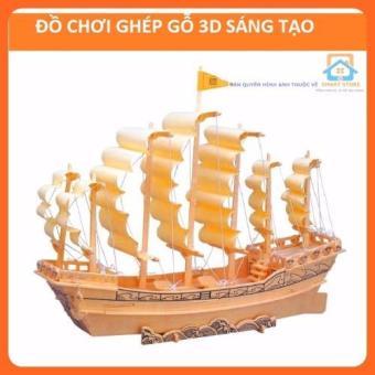 Đồ chơi ghép gỗ 3D-Thuyền chiến