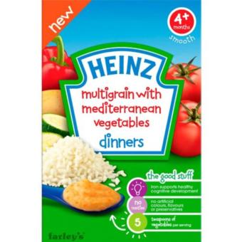 Bột ăn dặm Heinz dinner rau củ địa trung hải cho bé 4m+ 125g(Natural)
