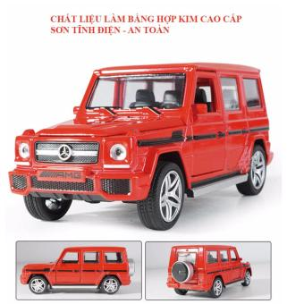 Xe ô tô đồ chơi mô hình Mercedes - Benz bằng hợp kim cao cấp (màu đỏ)